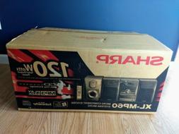 Sharp XL-MP60 Micro Shelf 120 Watt Stereo System. New